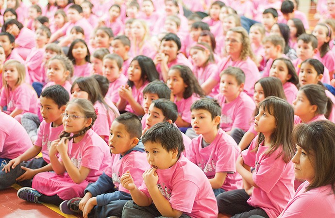 Fort Smith students sport pink for anti-bullying day