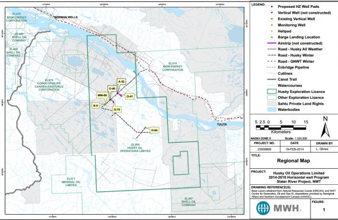 Husky applies to frack four wells in Sahtu