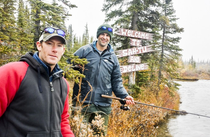 Former NHLers visit birthplace of hockey for fishing show