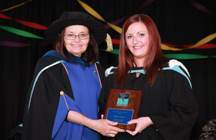 Aurora College students cross the stage in Inuvik