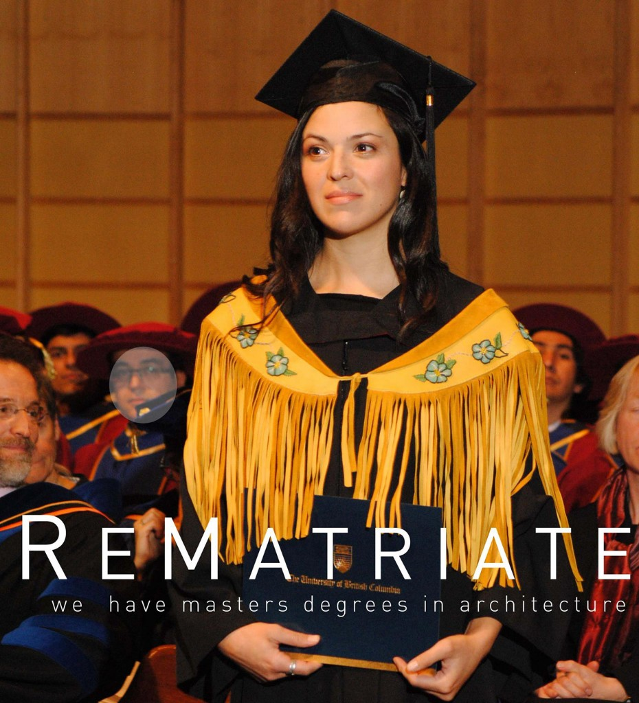 ReMatriate founder Kelly Edzerza-Bapty, from the Tahltan Nation in northern B.C., receives her Master of Architecture.
