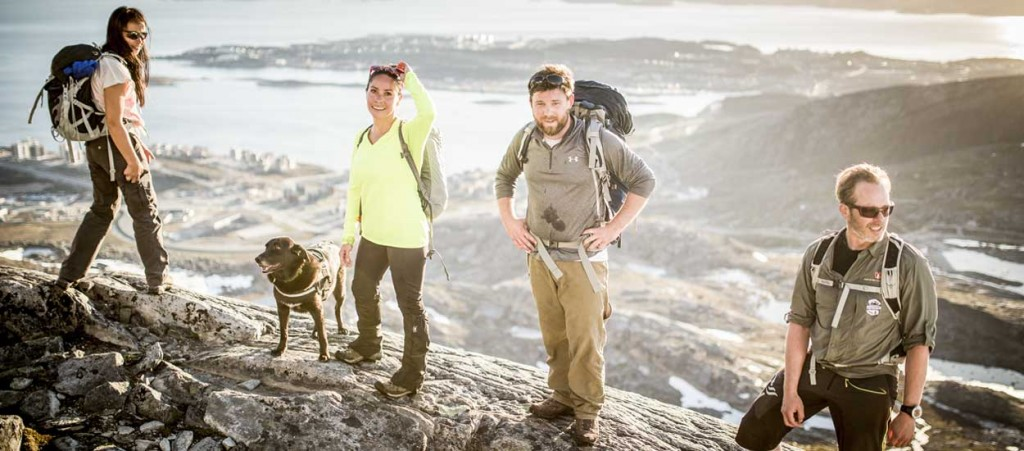 Hiking is one of the most popular ways to explore Greenland.