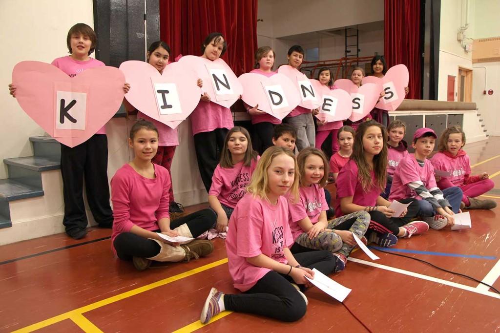 The JBT student leadership committee performed a short skit on kindness.