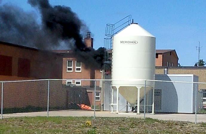 Fire in school boiler