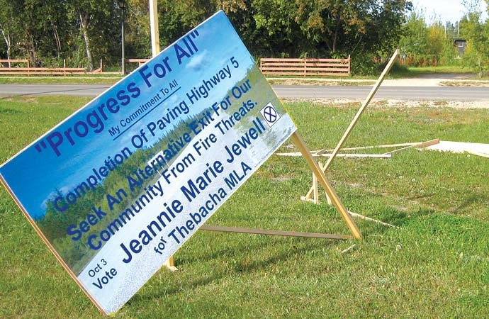 Marie-Jewell election signs attacked