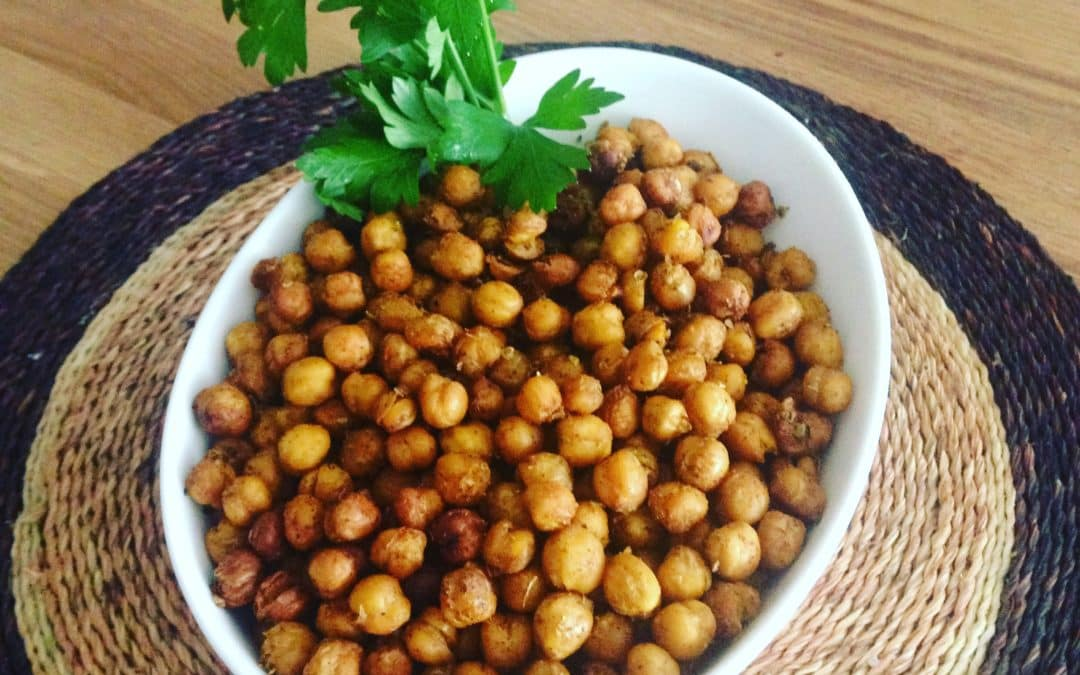 5 Healthy Lifestyle Resolutions that won't be hard to keep! Plus… Warm up with a recipe for Spicy Roasted Chick Peas