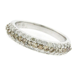 14371 Wedding Band with Champagne & With Diamonds