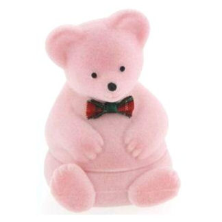 Pink Teddy Bear Ring Box