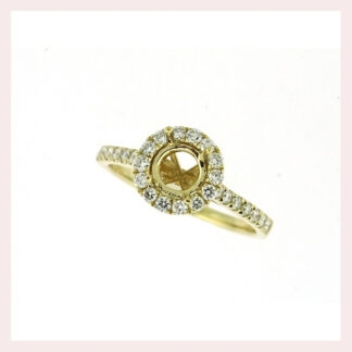 Semimount with Diamonds in 14KT Gold