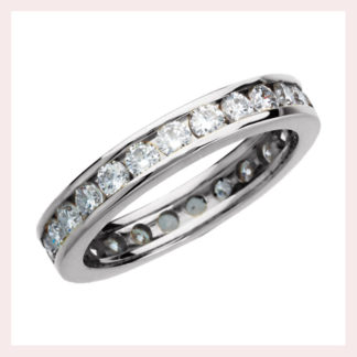 Diamond Eternity Band in Gold