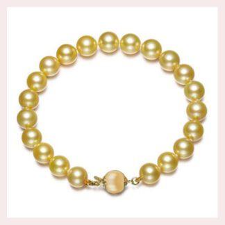 10011mm Golden Pearl Bracelet