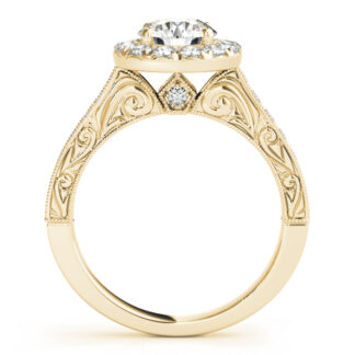 4096 Semimount with Diamonds in 14KT Gold