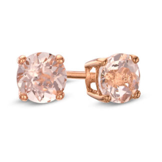 Morganite Stud Earrings in 10KT Rose Gold