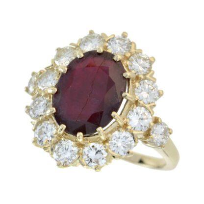 Ruby & Diamond Ring in 14KT White Gold