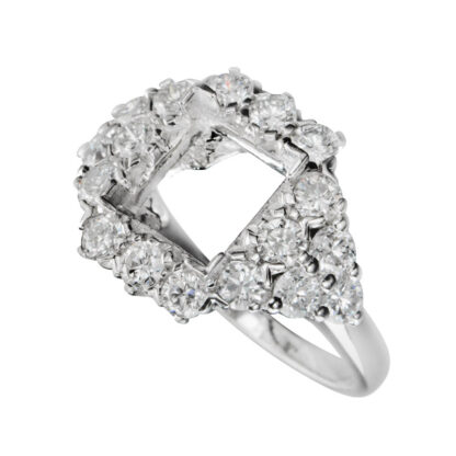 409019 Diamond Semimount in 14KT White Gold