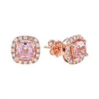 44901M Classic Morganite & Diamond Earrings in 10KT Rose Gold