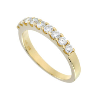 4491 Band with Diamonds in 14KT Yellow Gold