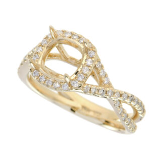 4588 Semimount with Diamond Halo in 14KT Gold
