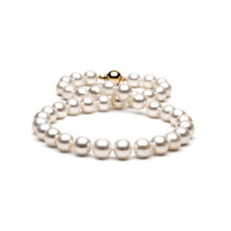 0578504 Necklace with 10-11mm Pearls in 14KT White Gold Clasp