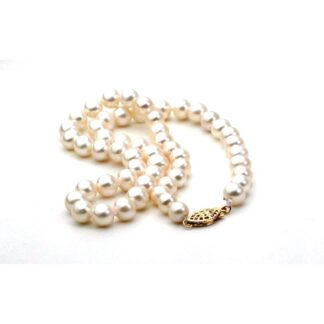 """6572004 20"""" Pearl Necklace with 14KT Gold Clasp"""