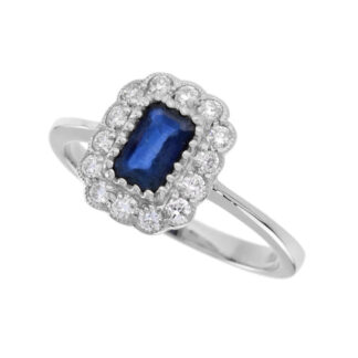 4010S-W Sapphire & Diamond Ring in 14KT Gold
