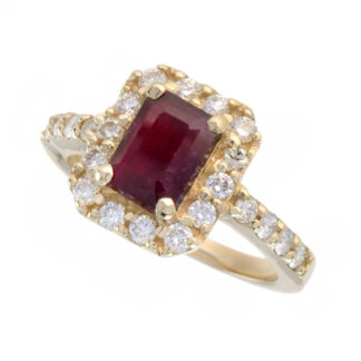 4653R-Y Classic Ruby & Diamond Ring in 14KT Yellow Gold