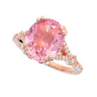 4851M Morganite & Diamond Ring in 14KT Rose Gold