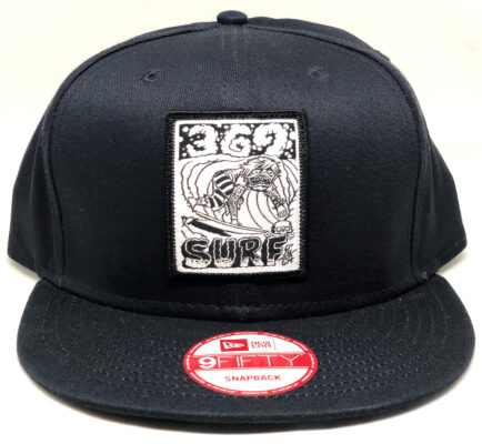 New Era 369 Surf Zombie Snapback Hat Black/White