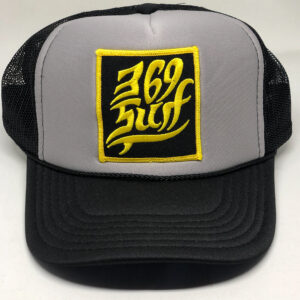 369 Surf Single Fin Patch Trucker Hat Black/Grey/Gold