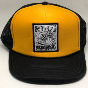 369 Surf Zombie Trucker Hat Black/Yellow/White