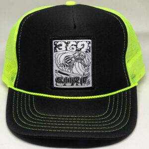 369 Surf Zombie Trucker Hat Black/Neon/White