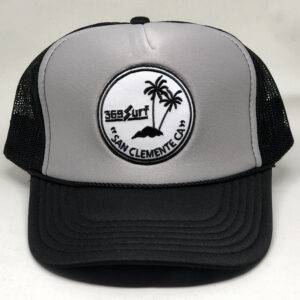 369 Surf San Clemente Palms Trucker Hat Black/Grey/White