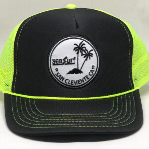 369 Surf San Clemente Palms Trucker Hat Black/Neon/White
