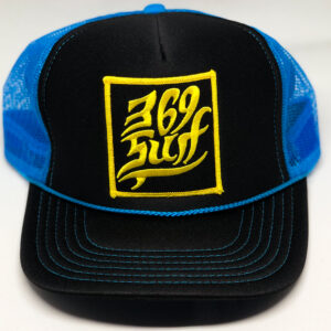 369 Surf Single Fin Patch Trucker Hat Black/Blue/Gold