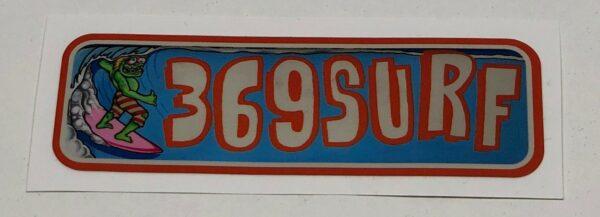 369 Surf Goofy 2 Sticker