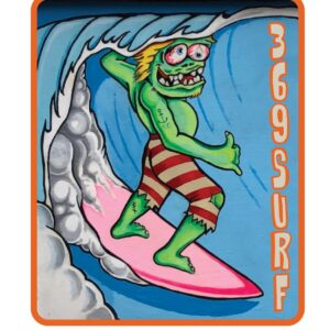 369 Surf Goofy Zombie Sticker