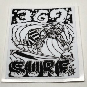 369 Surf Zombie Sticker