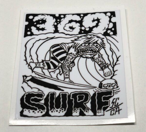 369 Surf Zombie Sticker