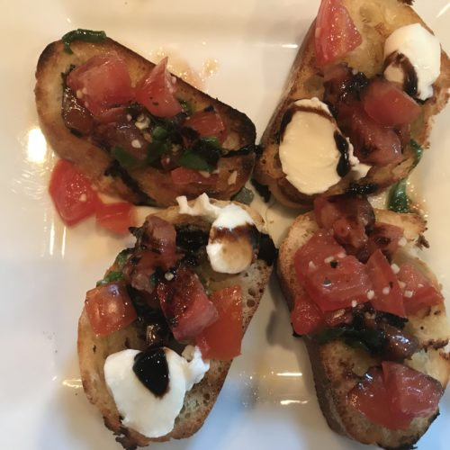 Grilled Bruschetta with Tomatoes and Basil…So Easy!