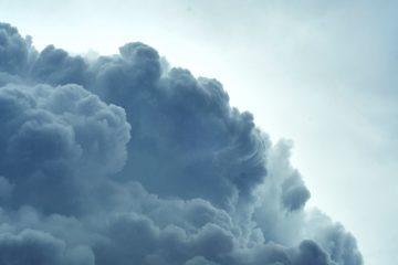 cloud bank against a blue sky