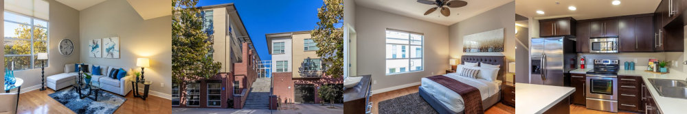 Collage of 1 East Julian St San Jose - 3 bedroom downtown condo