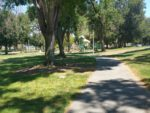 Playground & lawn at Three Oaks Park in Cupertino