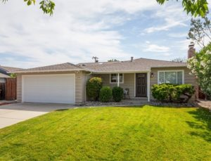 front of home at 1190 Crestline Drive, Cupertino CA 95014