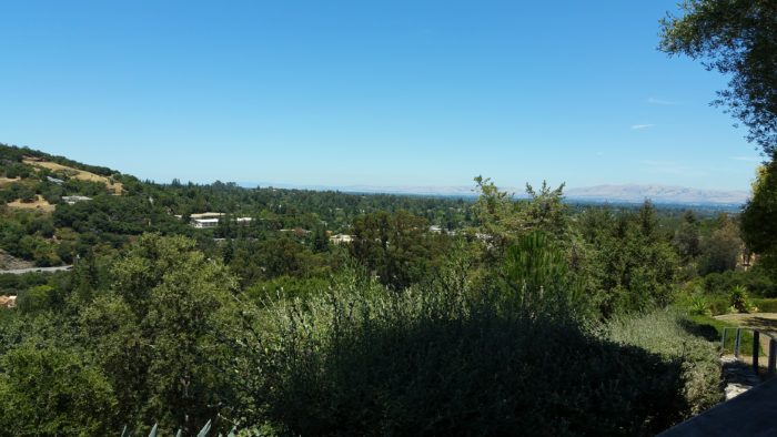 View from Sacred Heart Jesuit Center Los Gatos of the Santa Clara Valley below