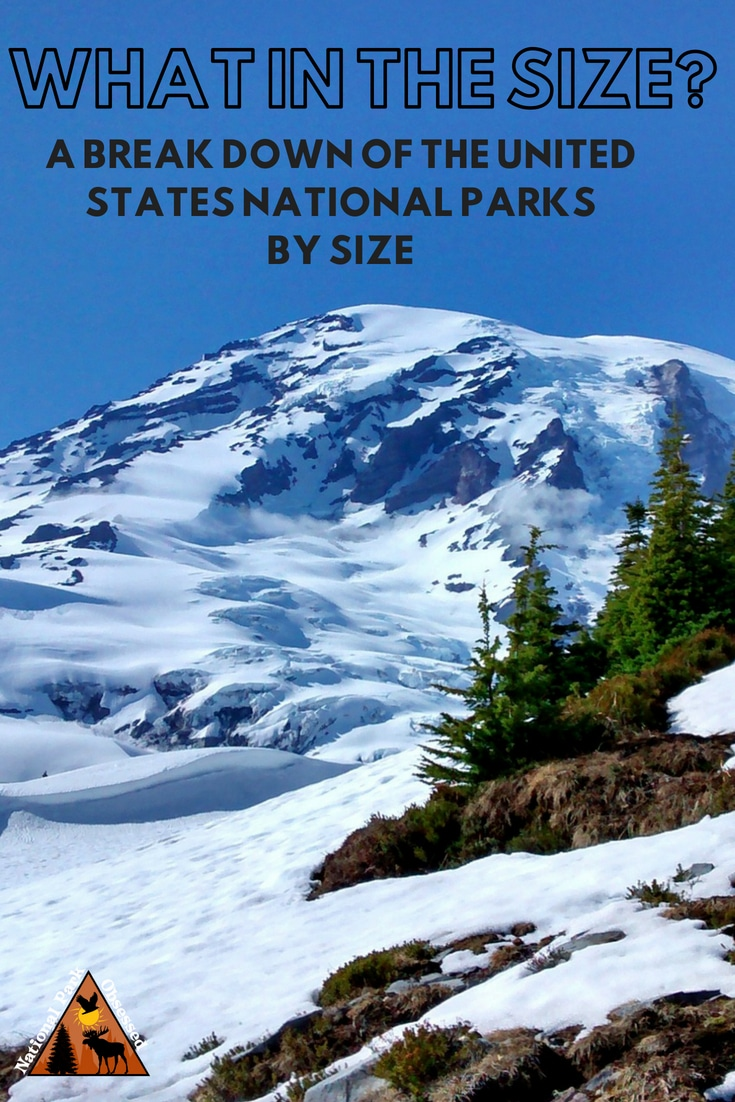 The United States National Parks have been inspiring generations. The parks come in all sorts of sizes. Here is a breakdown of the National Parks by size. #nationalpark #nationalparks #nationalparkobsessed #nationalparkgeek #findyourpark