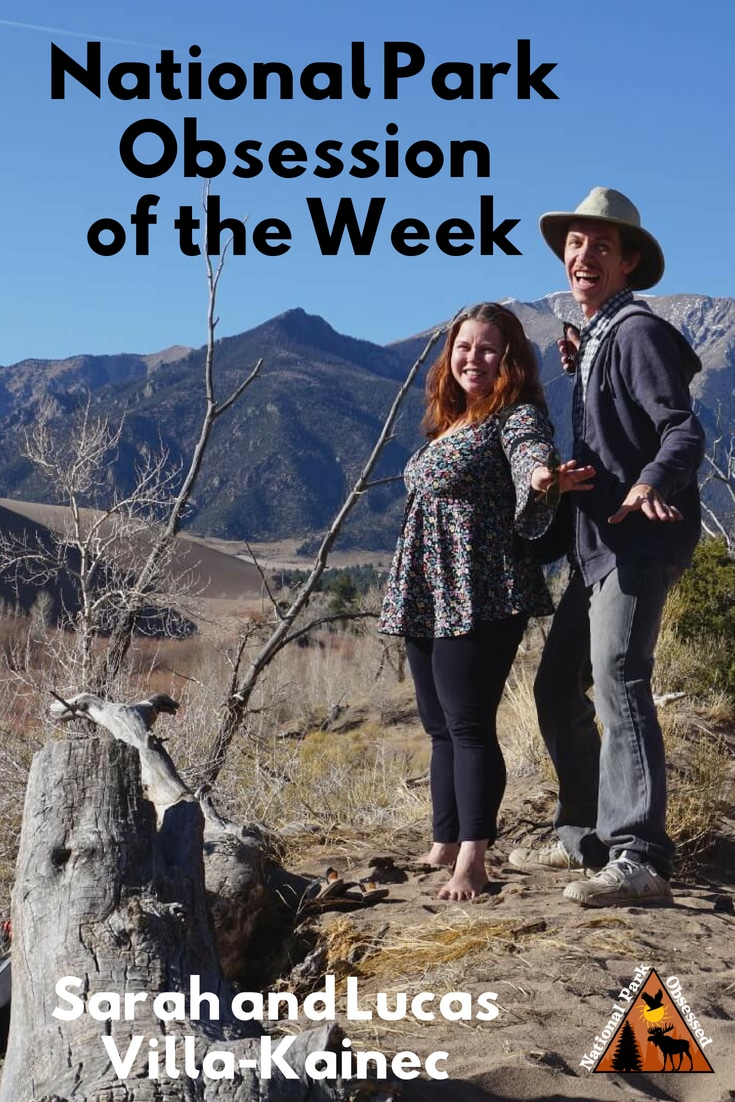 Learn about National Park Obsessed Community members Sarah and Lucas Villa-Kainec - @VirtualKamper. They are RV\'ing around the United States. #Nationalparkobsessed #nationalparks #nationalpark #findyourpark