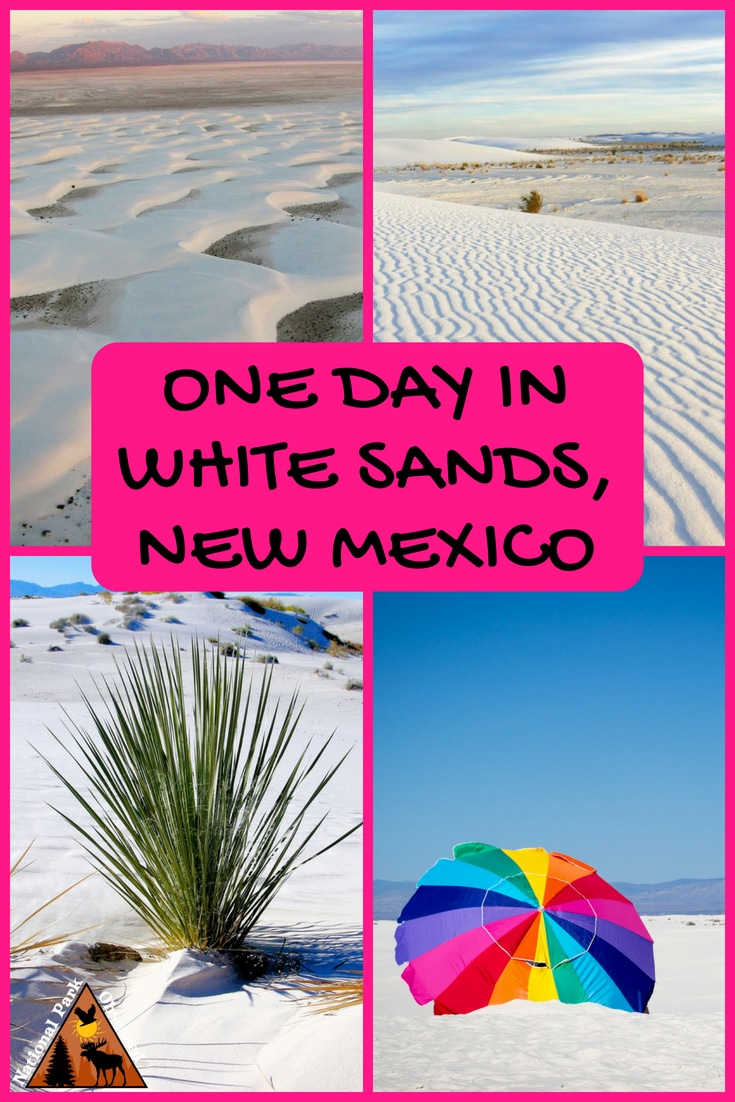 Looking to spend a day in White Sands National Monument? Check out our tips for making the most of your visit to the famed white sands. #whitesands #newmexico #whitesandsnationalmonument #findyourpark #nationalparkobsessed #nationalparkgeek