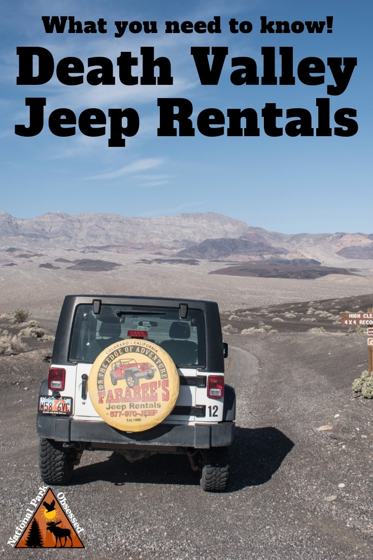 Thinking about a Death Valley Jeep Rental. Here is everything you need to know about getting a Farabee\'s Jeep Rental for exploring Death Valley. #deathvalley #califorina #deathvalleynps #findyourpark #nationalparks #nationalpark #nationalparkobsessed