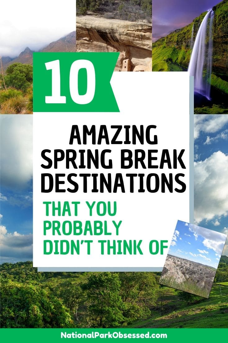 Looking to do something different for spring break? Check out these 10 unique spring break destinations to explore and make the most of your spring break. #springbreak spring break vacation spring break road trip