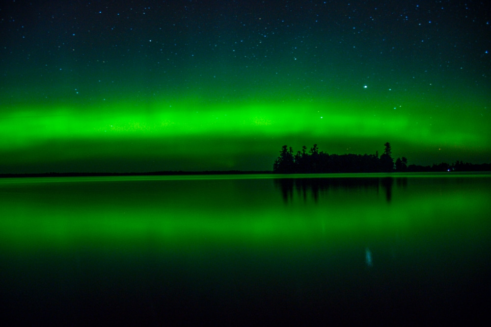 Northern lights in Voyageurs National park
